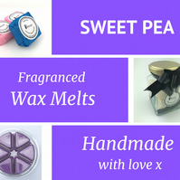 Sweet Pea Soy Wax Melt for use in wax & oil burners