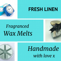 Fresh Linen Soy Wax Melt for use in wax & oil burners