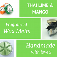 Thai Lime and Mango Soy Wax Melt for use in wax & oil burners