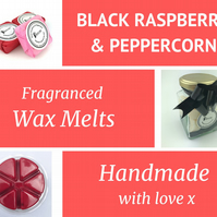 Black Raspberry and Peppercorn Soy Wax Melt for use in wax & oil burners