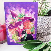 Autumn Witch Card