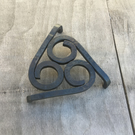 Hand forged rustic effect Trivet saucepan stand