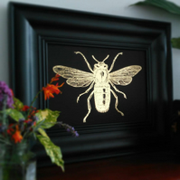 Foil Print 'Buzzy Bee' Wall Art. A4 or A5 Print Ready to Frame. Manchester Bee