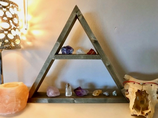 Triangle Shelf - Geometric Shelf - Plant Shelf - Crystal Shelf - Wall Shelf