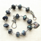 Midnight Blue - Oxidized Sterling Silver, Blue Fire Labradorite Beaded Bracelet