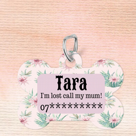Cactus Custom Pet Tag, Personalised Pet tag makes the perfect dog collar pet tag
