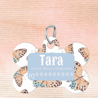 Butterfly Custom Pet Tag, Personalised Pet tag