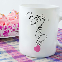 Engaged Ceramic Mug, Wifey to be, Perfect to help with your wedding planning!