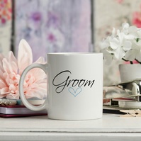 Groom Ceramic Mug makes the perfect Wedding Gift, Wife mug also available