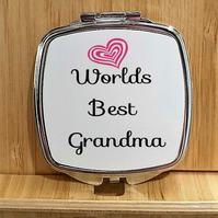 Grandma Mirror Compact, Gift for a Great Grandma, Lovely gift for grandma