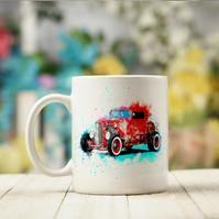 Red Hot Rod Ceramic Coffee Mug, The perfect birthday gift for him