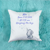 Personalised Baby Boy Pillow, Beautiful Nursery decor, perfect for a baby shower