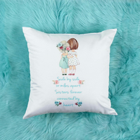 Sisters Pillow the perfect Gift For Her, Pretty Decorative Cushion