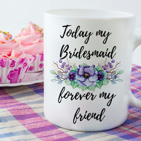 Bridal Party Ceramic Coffee Mugs, Perfect for Bridesmaids