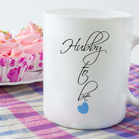 Engaged Ceramic Mug, Hubby to be, Perfect to help with your wedding planning!