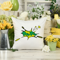 POW POW Comic Book Pillow, The perfect children's room decor