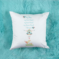 Custom Mum pillow, lovely Mum birthday gift or Mother's Day Gift