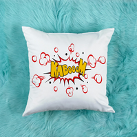 KABOOM Throw Pillow, The perfect kids room decor! Man Cave Decor