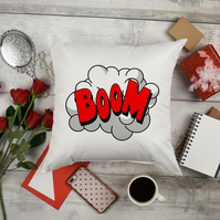 BOOM Comic Book Throw Pillow, The perfect kids room decor, Best friend gift