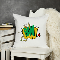 BAM Comic Book Throw Pillow, The perfect kids room decor, or man cave decor