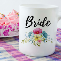 Bridal Party Ceramic Mugs, Perfect engagement gift