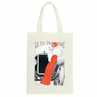 La Vie Parisienne Long Handled Tote bag, The perfect reusable bag!