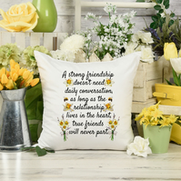 Strong Friendship Pillow, the perfect Best Friend birthday gift