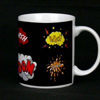 Retro Comic Book Design Cup the perfect man cave gift for him fab boyfriend gift