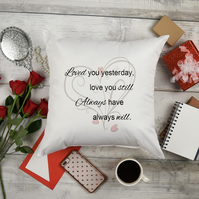 Decorative Pillow, A gift for her or gift for him, wife birthday gift