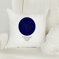 Custom Star Map baby birth pillow, A perfect new baby gift