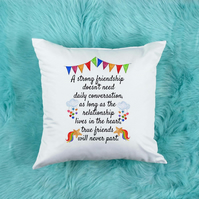 Strong Friendship Throw Pillow, the perfect Best Friend birthday gift.