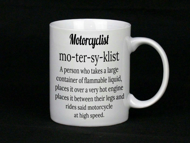 Motorcyclist Ceramic Mug, The perfect biker gift