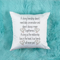 Strong Friendship Pillow, the perfect Best Friend birthday gift, friend pillow