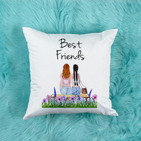 Best Friends Pillow, the perfect Best Friend Gift For Her, Long Distance gift