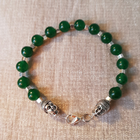 Cat Collar, with Buddha and Aventurine. Lobster Clasp Fastenings.