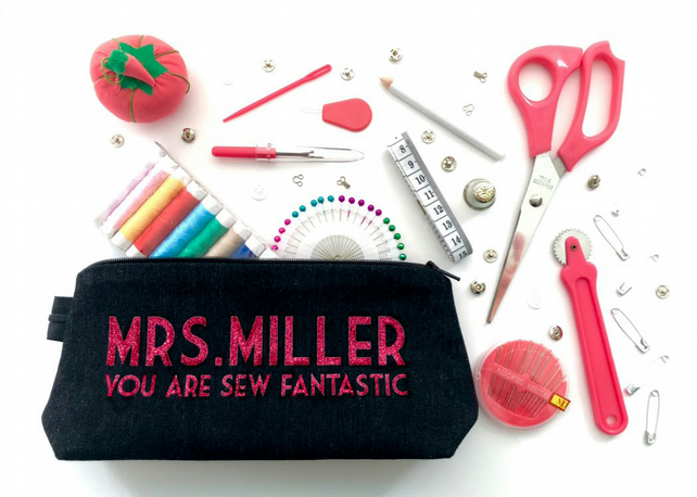 Teacher Gift Personalised Travel Sewing Kit