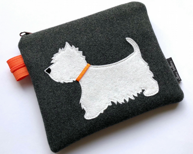 West Highland Terrier Coin Purse Pouch Westie Gift