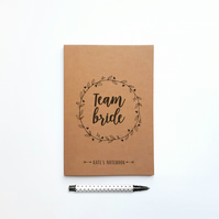 Personalised Team Bride Wedding Notebook Planner for Bride to be or Bridesmaid