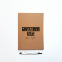 Personalised Adventure Travel Notebook and Travel Journal Gift for Travellers