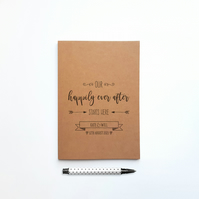 Personalised Happily Ever After Wedding Planner for Bride and Groom Custom Noteb