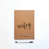 Personalised Wifey Wedding Journal Notebook Engagement Gift for Wedding Planning