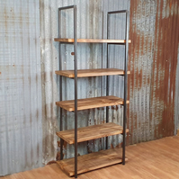 Industrial reclaimed style freestanding bookshelves
