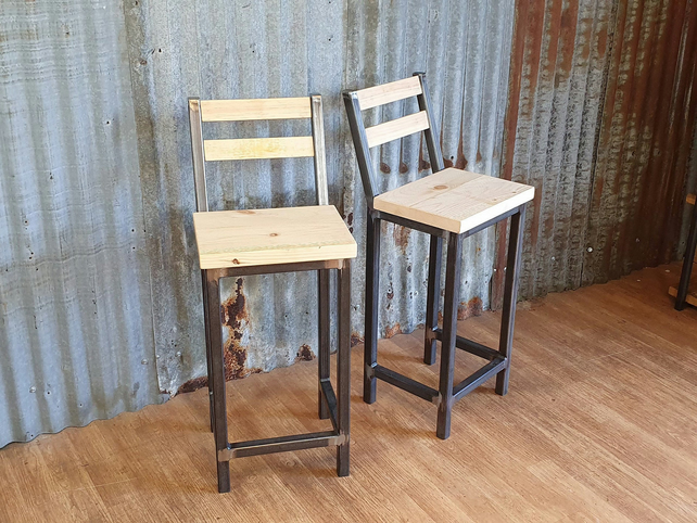 Industrial style breakfast bar stools, bar stools for poser tables
