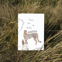 Mum You Are Utterly Wonderful Cheetah Mother's Day Card