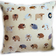 Cushion, Tapestry Sheep design Throw Pillow