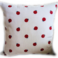 Cushion, Ladybird design Throw Pillow