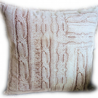 Cushion, Cable Knit design Throw Pillow
