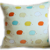Cushion, Coloured Hedgehog design Throw Pillow