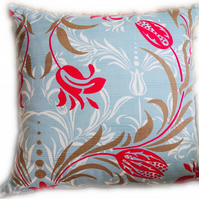 Cushion, Blue & Pink floral design Throw Pillow
