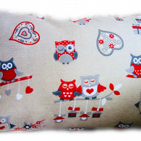 Cushion, Red Owl design Throw Pillow